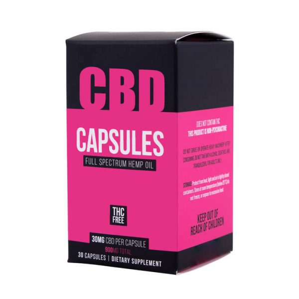 CBD Capsules Boxes Packaging