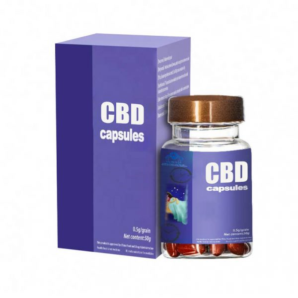 CBD Capsules Boxes Customized
