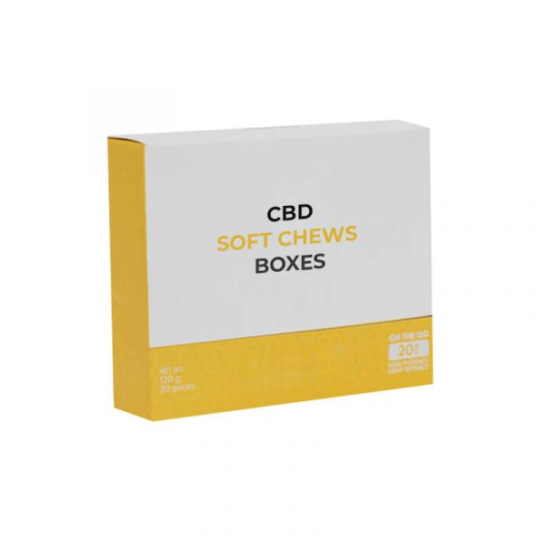 CBD Soft Chews Boxes Custom