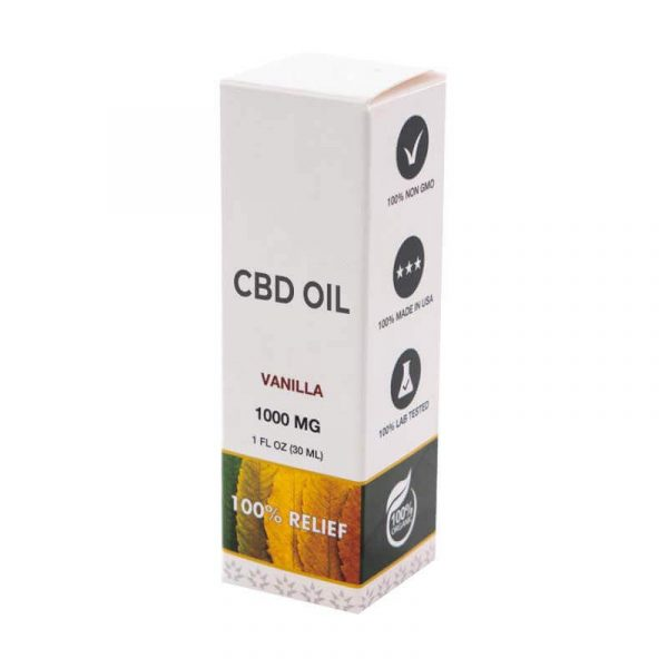 CBD Vanilla Oil Boxes Packaging
