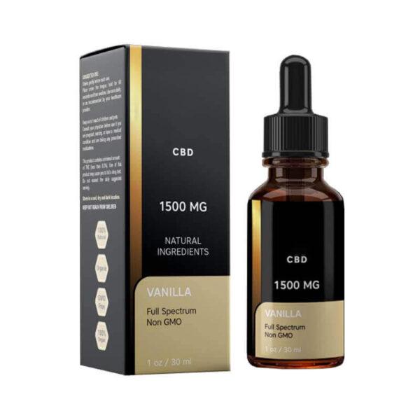 CBD Vanilla Oil Boxes Wholesale