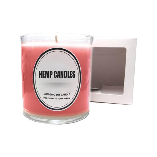 Hemp Candles Boxes Printed