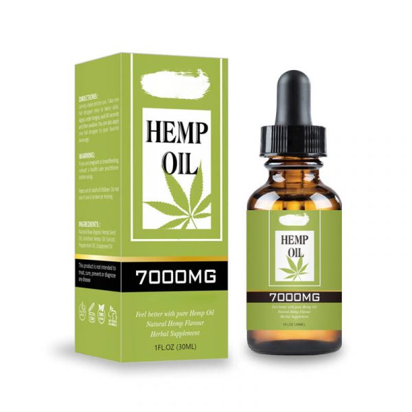 Hemp Essential Oil Boxes Packaging