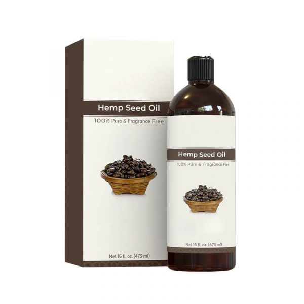 Hemp Seeds Oil Boxes Custom
