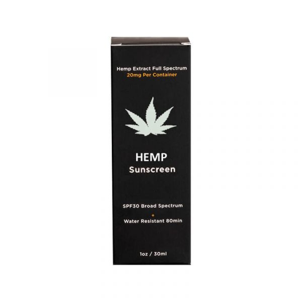 Hemp Sunscreen Boxes Retail